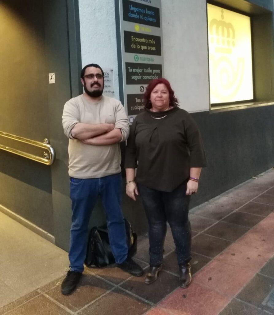 Almería   Enrique Ruíz y Amalia Román de IU