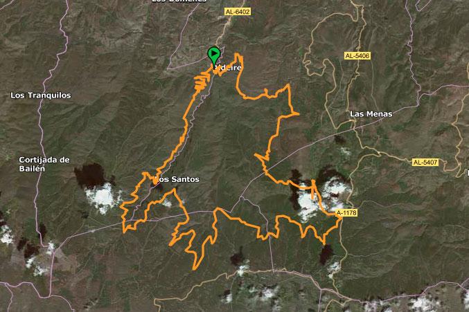 Mapa ruta Entre aleros de pizarra y árboles monumentales