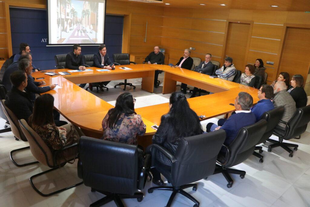 El Ejido | Reunión con comerciantes