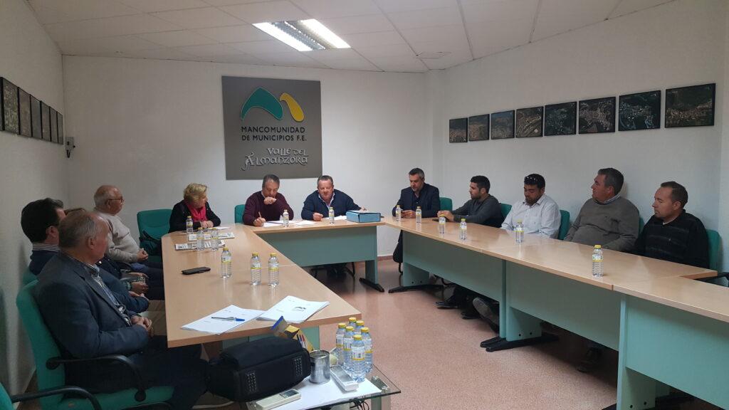 Almanzora   Reunión del delegado de Turismo con la mancomunidad