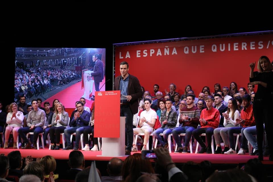 Pedro Sánchez, Presidente del Gobierno, en Almería
