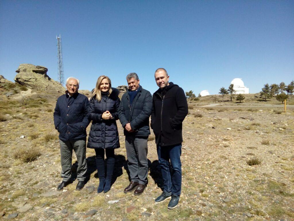 Subdelegado, Delegada del Gobierno y Rector de la UAL en el Observatorio Calar Alto