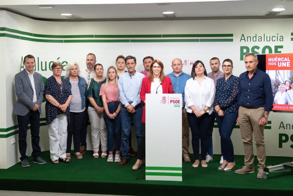 PSOE Almería   Rueda de prensa de la candidata a la Alcaldía de Huércal de Almería, Ángeles Castillo