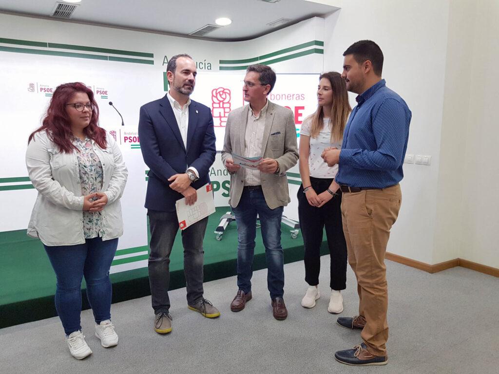PSOE Carboneras | El candidato a la Alcaldía, José Luis Amérigo (2º izq.) junto al secretario general del PSOE de Almería, José Luis Sánchez Teruel, y otros miembros de la candidatura