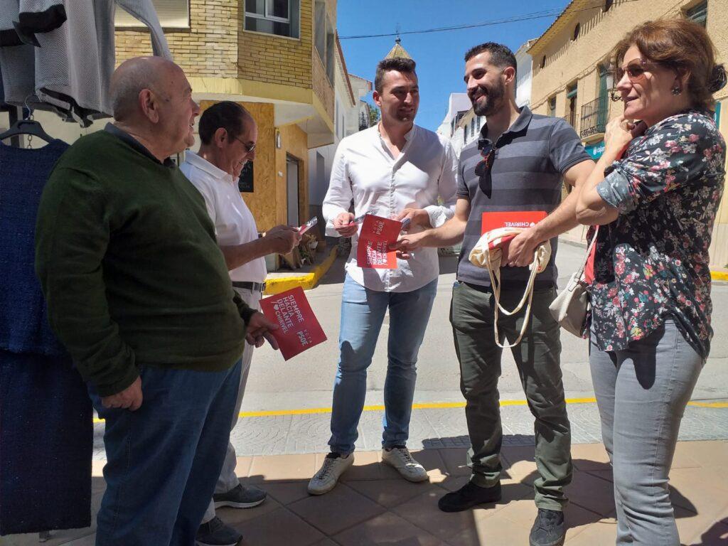 PSOE Chirivel   José Torregrosa (centro), candidato a la Alcaldía con otros miembros de la candidatura