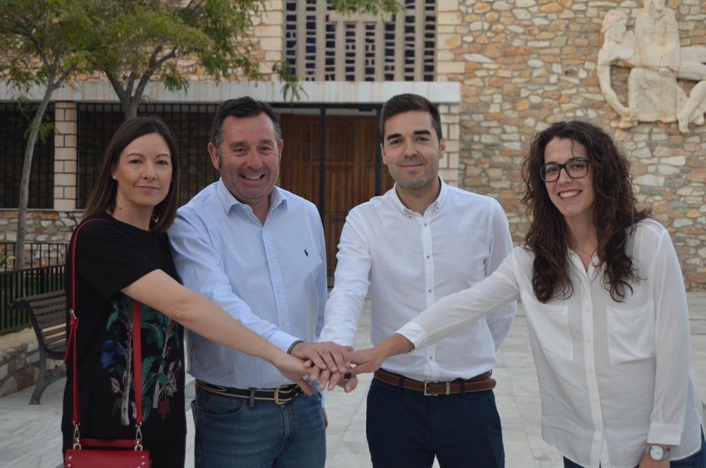 PSOE | El candidato a la Alcaldía de Olula del Río, Diego Castaño, junto al candidato de Macael, José Francisco Tapia