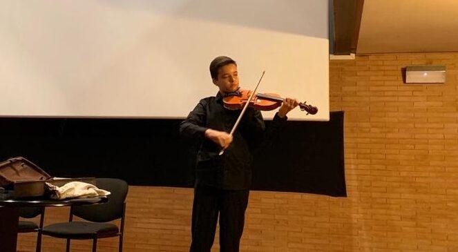 Javier Gutiérrez, durante la audición