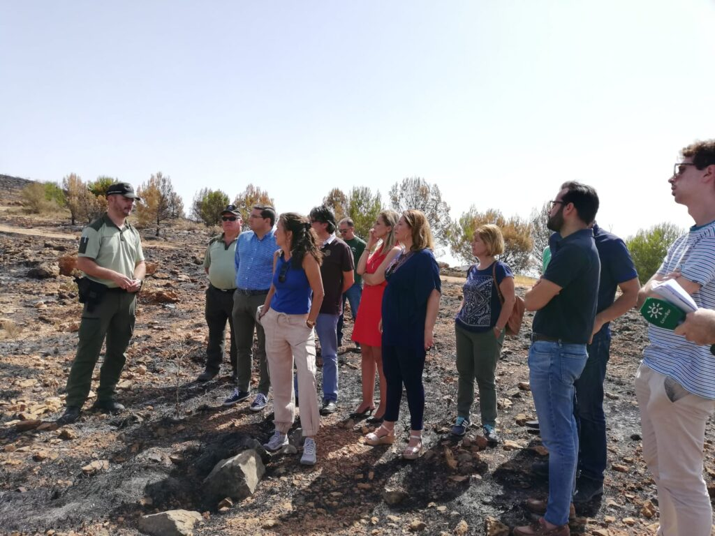 Terque | Visita a la zona afectada de responsables de la Junta de Andalucía junto al alcalde de Terque