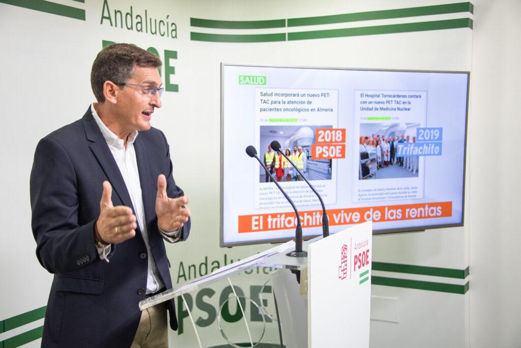 José Luis Sánchez Teruel, secretario general del PSOE de Almería y parlamentario andaluz.