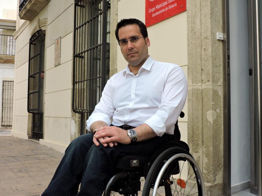 Pedro Díaz, concejal del PSOE en el Ayuntamiento de Almería.