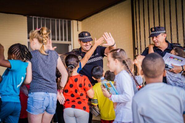 Clausura del curso de Educación Vial en el colegio Virgen del Rosario de Roquetas de Mar.