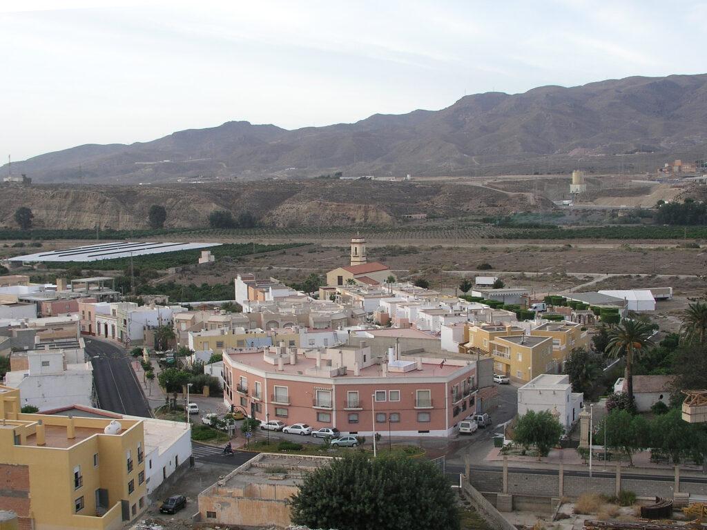 Vista del municipio de Pechina.