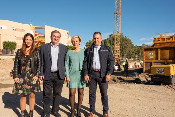 Candidatos y candidatas socialistas al Congreso y Senado visitan las obras del soterramiento de El Puche