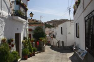 Vista de una calle de Nacimiento