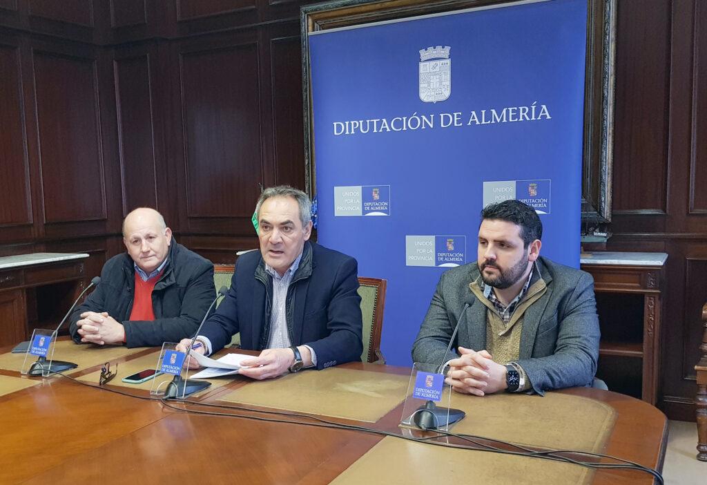 Antonio Gutiérrez, Marcelo López y Juan Manuel Ruiz en la Diputación Provincial.