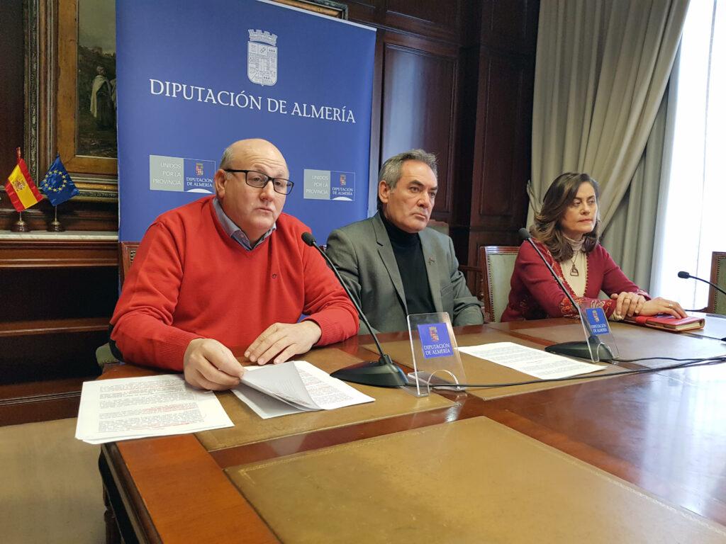 Antonio Gutiérrez, Marcelo López y Carmen Aguilar, PSOE Diputación.