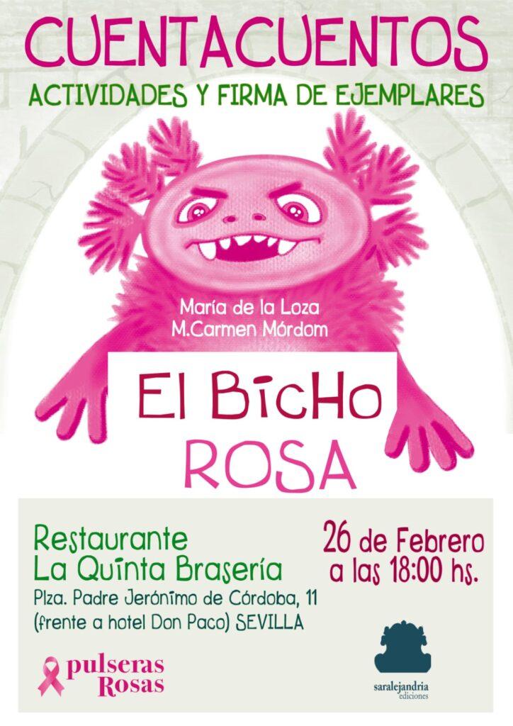 Cartel Cuentacuentos Pulseras Rosas