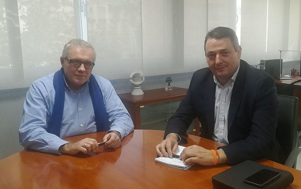 reunión delegado Empleo y alcalde Tíjola