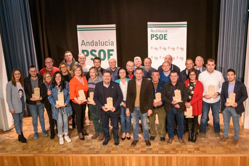 Foto de familia del acto del PSOE celebrado en Cantoria.