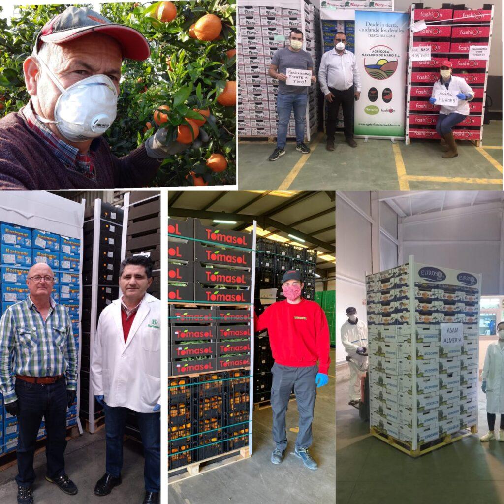 Donaciones de los agricultores al hospital de Madrid