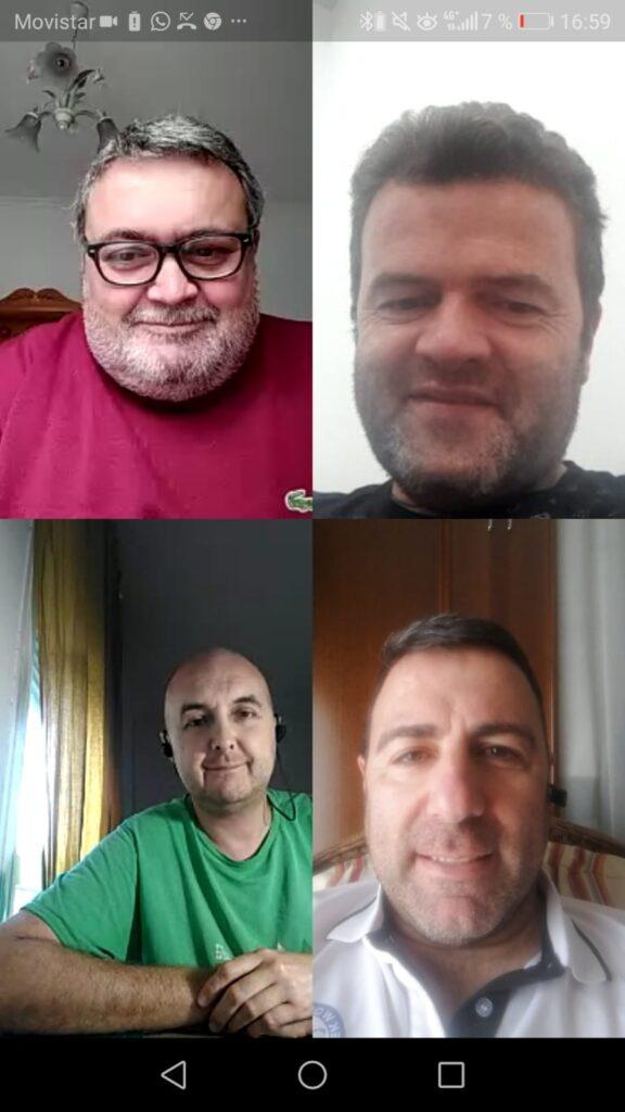 Portavoces de los grupos municipales de la oposición en Roquetas de Mar.