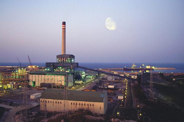 Central eléctrica de Endesa en Carboneras.