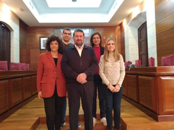 Ediles del Grupo Municipal Socialista en el Ayuntamiento de Vera.