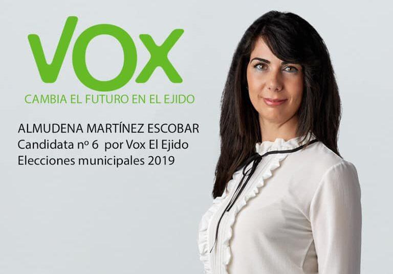 Almudena Martínez, concejal de Servicios Sociales de Vox El Ejido