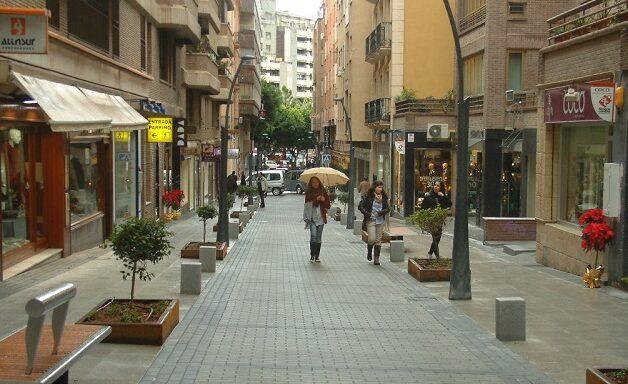 Comercios del centro de Almería.