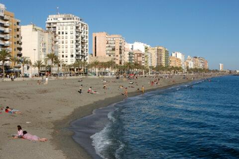 Playa de las Conchas, en la capital almeriense