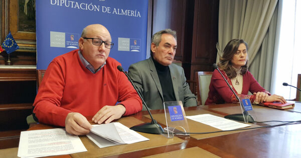 Antonio Gutiérrez, Marcelo López y Carmen Aguilar, diputados y diputada del PSOE, en una imagen de archivo.