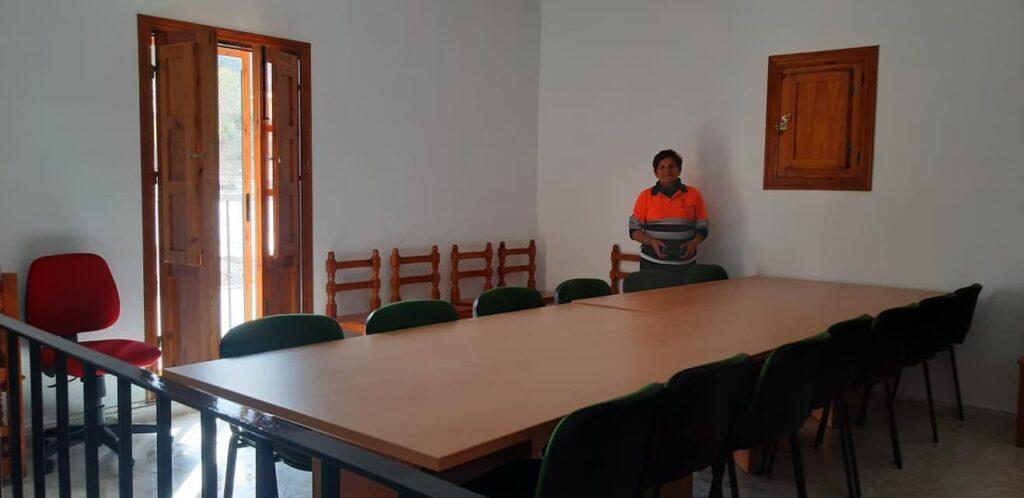 Sala que a partir de ahora podrán utilizar los vecinos de Fondón, en el Gimnasio Municipal