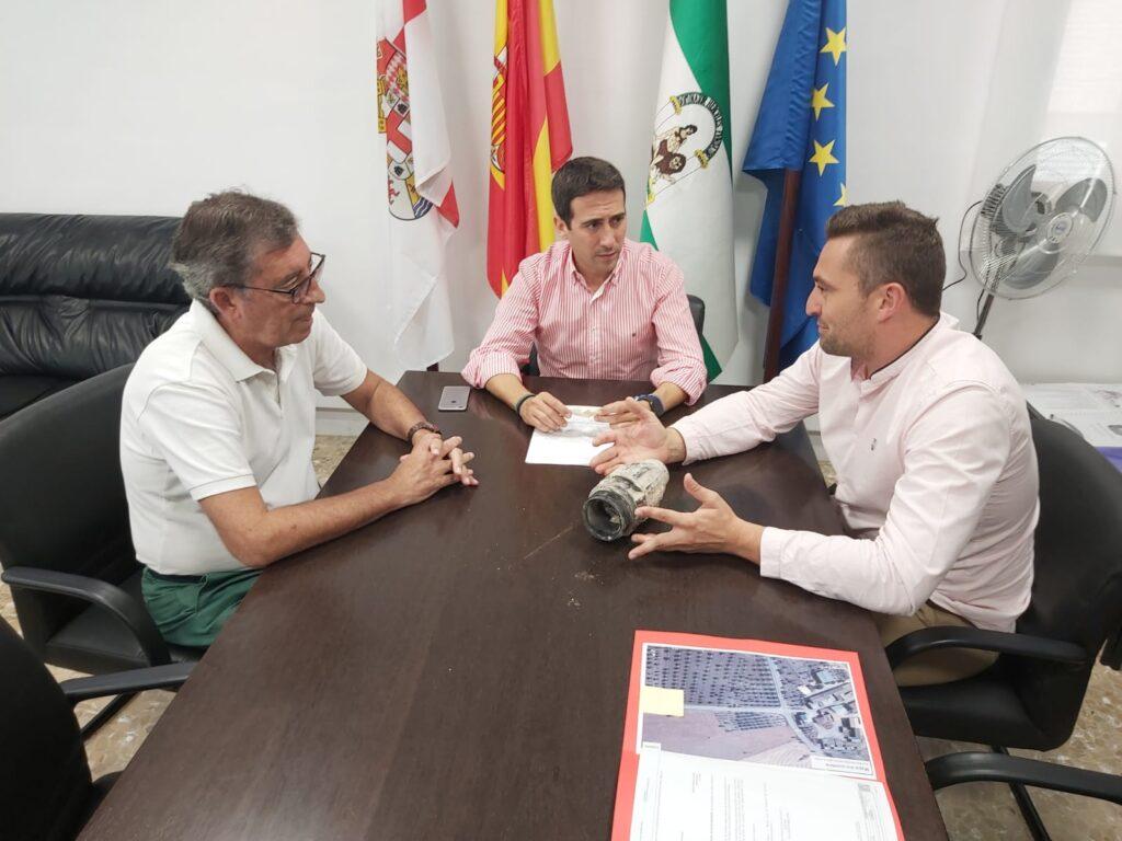El diputado de Fomento con el alcalde de Chirivel
