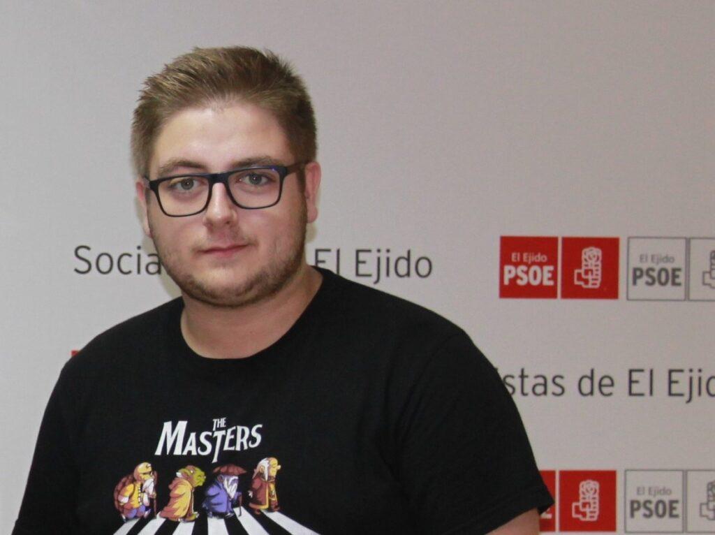 Jorge Alcalá, vicesecretario general de las Juventudes Socialistas de El Ejido