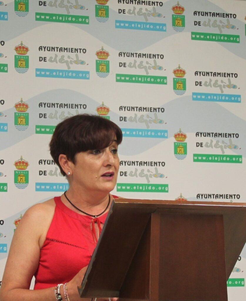 La portavoz del GMS, Maribel Carrión, en el Ayuntamiento