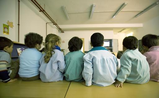 Escolares en un centro educativo