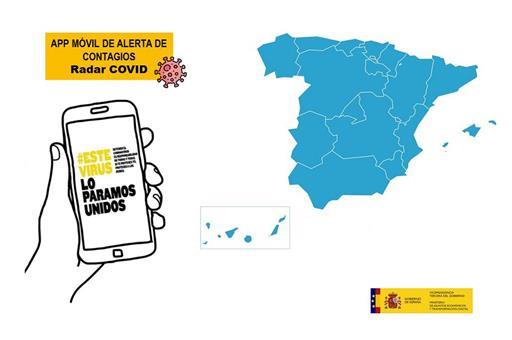 Aplicación Gobierno de España para conocer los contagios