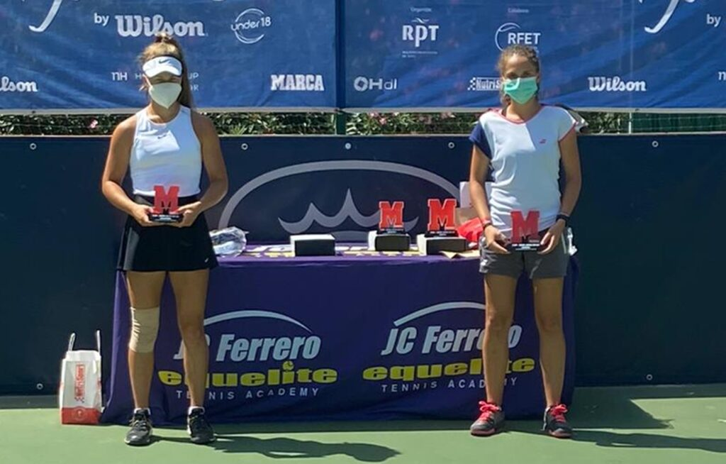 La tenista, María Dolores López