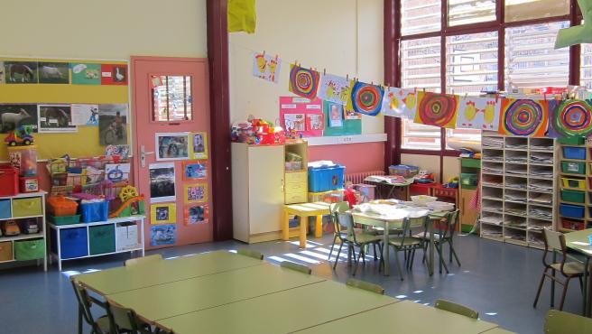 Imagen de un aula de Infantil vacía.