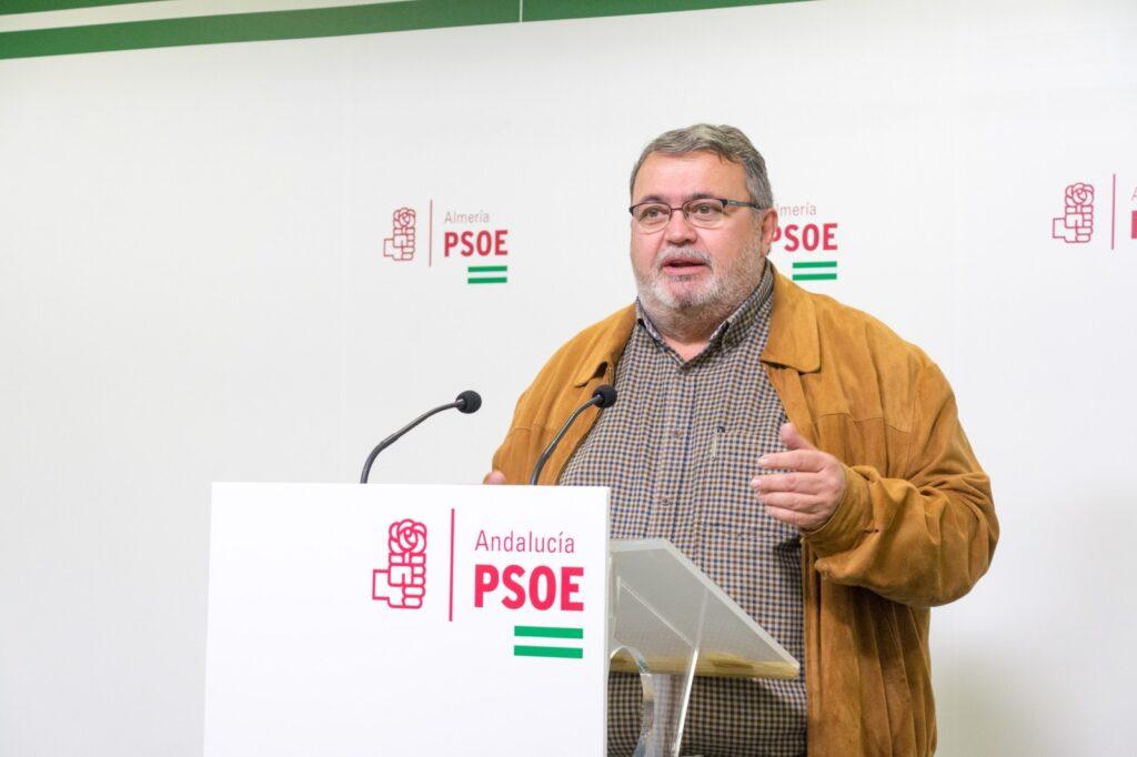 Foto de archivo de Manolo García, portavoz del PSOE en Roquetas de Mar.