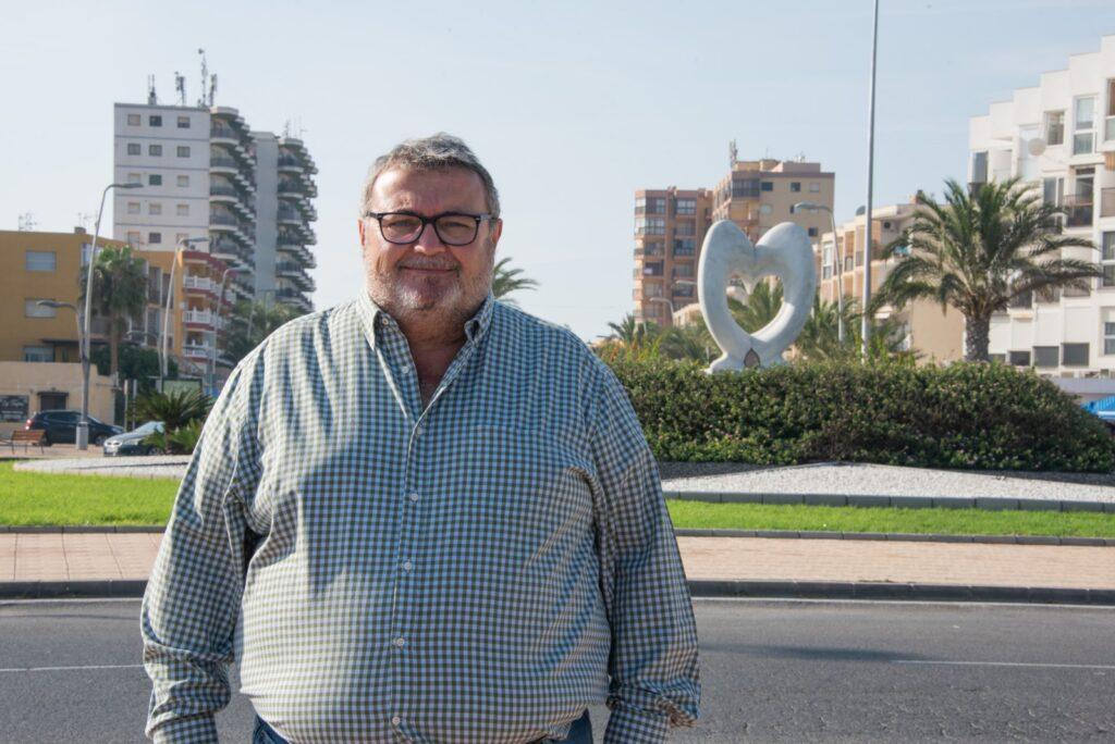 Manolo García, portavoz del PSOE en Roquetas de Mar, en una imagen de archivo.
