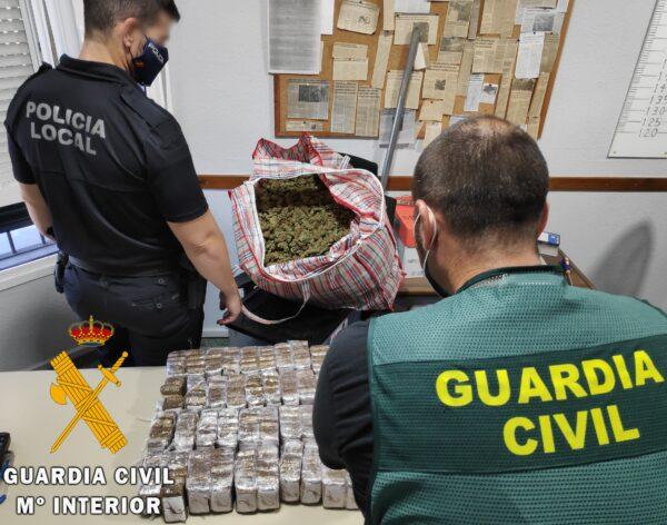 Guardia Civil en la operación en Vícar.