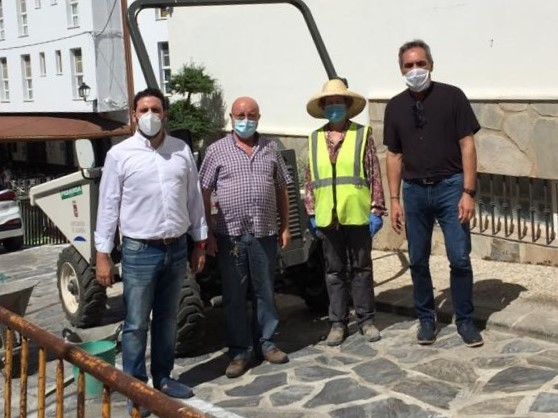 Visita a las obras del PFEA en Bacares