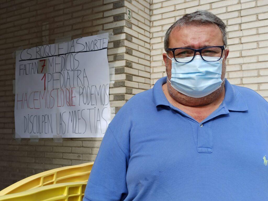 Manolo García en un centro de salud.