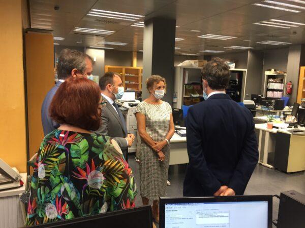 Inauguración del nuevo juzgado de lo social de Almería.