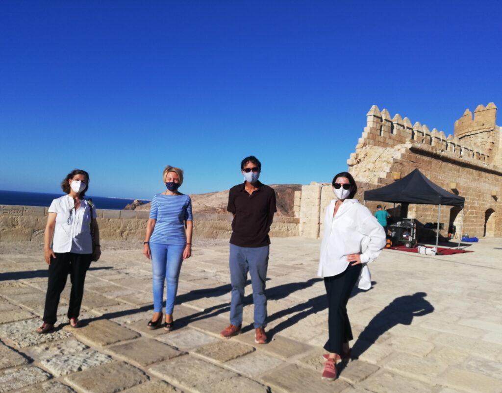 Visita de la delegada de Cultura al rodaje del documental en la Alcazaba