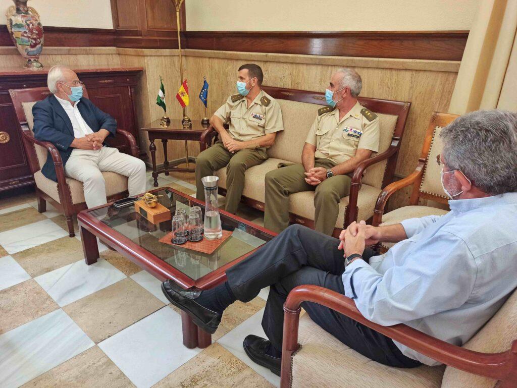 Despedida al coronel Gabaldón en la Subdelegación del Gobierno en Almería.