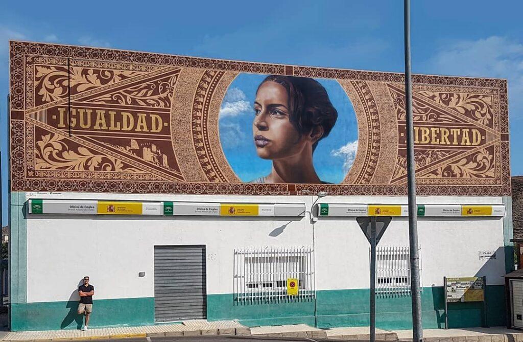 Mural de Daniel Fernández en Tabernas