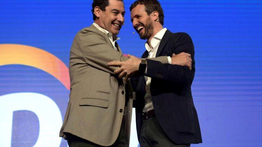 Moreno Bonilla y Pablo Casado.