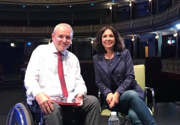 Antonio Sánchez de Amo e Isabel Gemio en un encuentro en el Cervantes